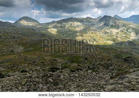 Panorama of Spano Pole and Spanopolski chukar peak, Pirin Mountain, Bulgaria