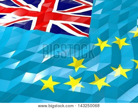 Flag Of Tuvalu 3D Wallpaper Illustration