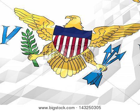 Flag Of Virgin Islands, U.s. 3D Wallpaper Illustration
