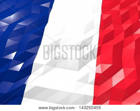 Flag Of Wallis And Futuna 3D Wallpaper Illustration