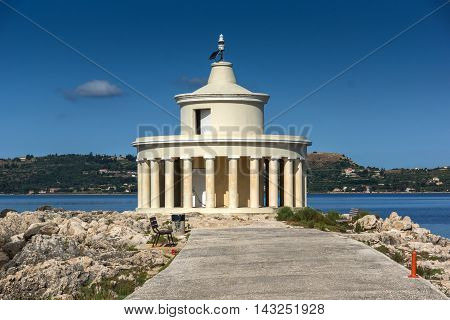Amazing panorama around Lighthouse of St. Theodore at Argostoli,Kefalonia, Ionian islands, Greece