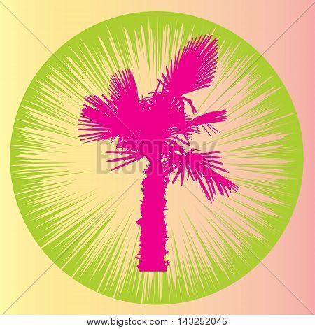 Silhouette of Palm Trees. Vector Illustration. EPS10