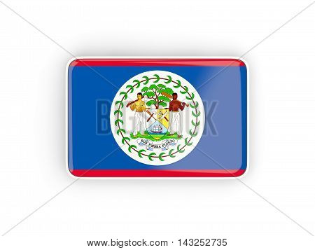 Flag Of Belize, Rectangular Icon