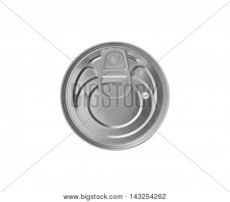 Food can isolated on white background. With clipping path.