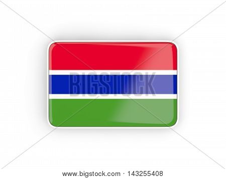 Flag Of Gambia, Rectangular Icon