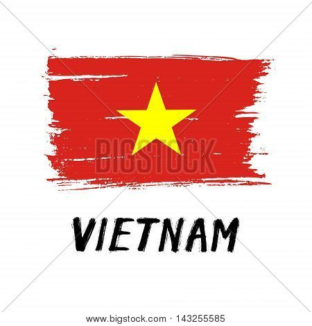 Flag Of Vietnam  - Color Grunge Icon