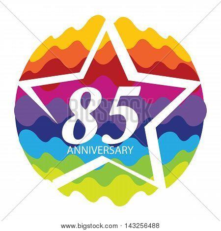 Template Logo 85 Anniversary Vector Illustration EPS10