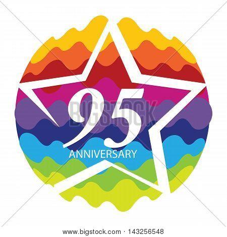 Template Logo 95 Anniversary Vector Illustration EPS10