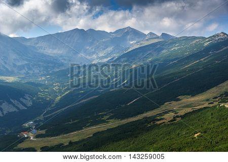 Amazing panorama from Yastrebets to Musala peak, Rila mountain, Bulgaria