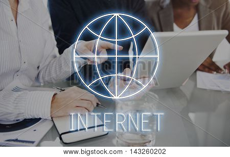 Internet Webpage Global Communication Network Concept