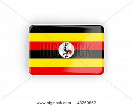 Flag Of Uganda, Rectangular Icon