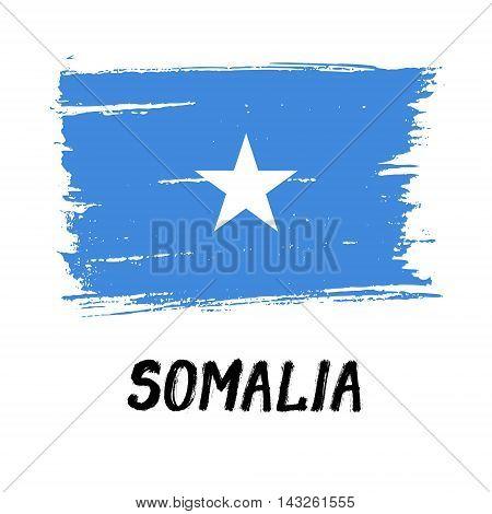 Flag Of Somalia - Color Grunge Icon