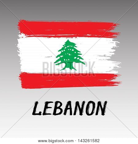 Flag Of Lebanon - Color Grunge Icon