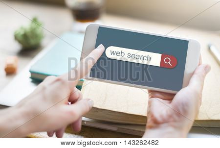 Web Search Engine Browser Find Looking Concept