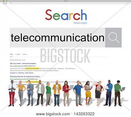Telecommunication Connection Technology Communication Concept