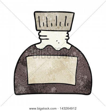 freehand textured cartoon ink pot