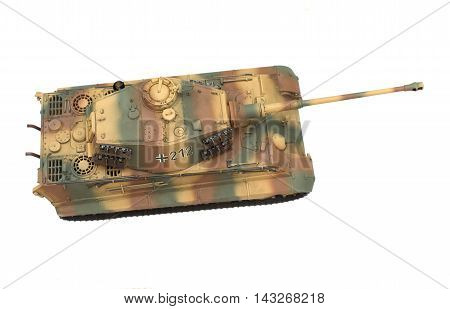 scale model of old vehicle and tanks