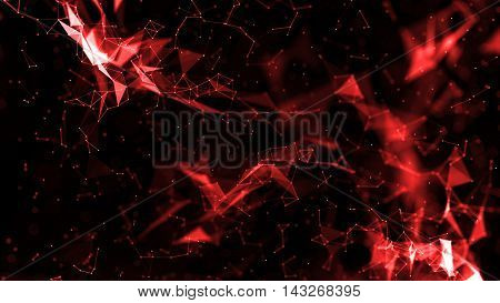 3D Render Abstract Plexus Connections Background
