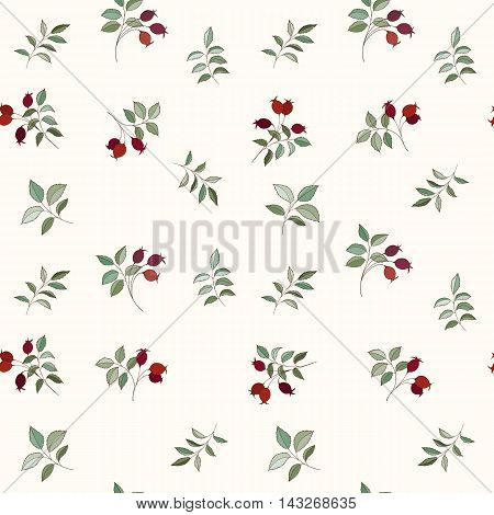 Hawthorn seamless pattern can be used for wallpaper, website background, wrapping paper. Leaf natural bright background