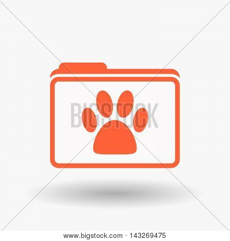 Isolated  Line Art  Folder Icon With A Game Pad