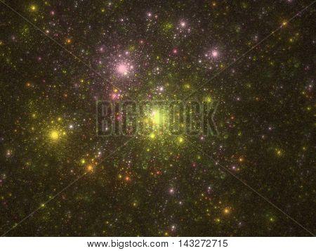 Spiral Star magnetic vortices. 3D illustration