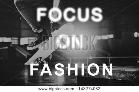 Focus On Change Fashion Yourself Trends Concept