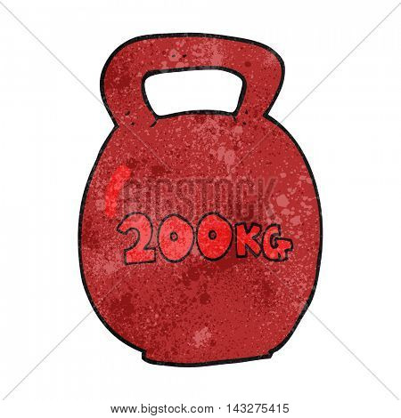 freehand textured cartoon 20kg kettle bell