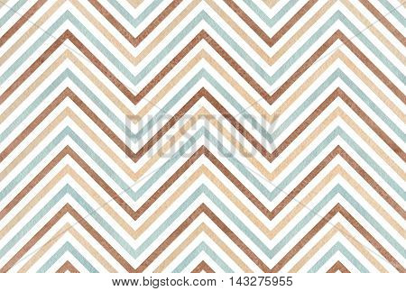 Watercolor Brown, Beige And Blue Stripes Background, Chevron.