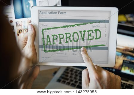 Approved Allowed Approval Application Form Concept