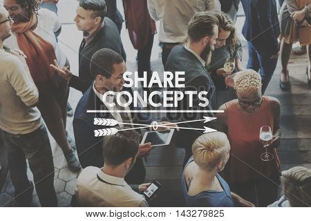 Sharing Ideas Solutions Knowledge Together Concept