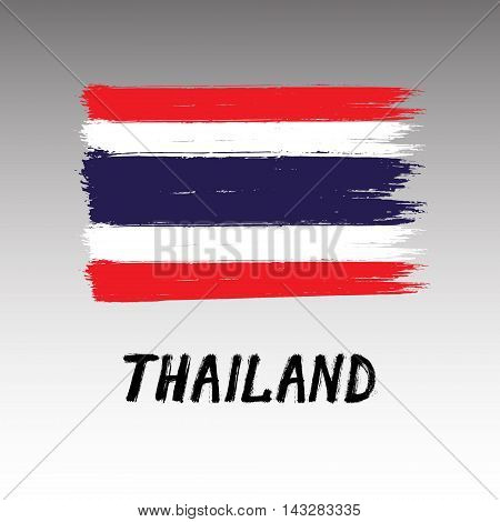 Flag Of Thailand  - Color Grunge Icon