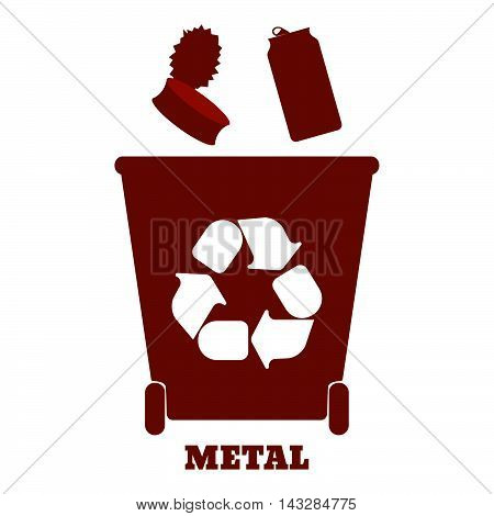 Big Colorful Containers For Recycling Waste Sorting - Metal. Vector Illustration.