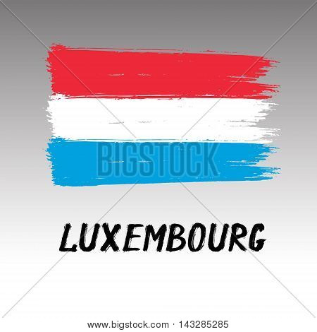 Flag Of Luxembourg  - Color Grunge Icon