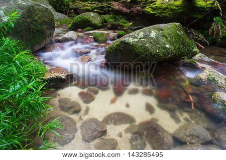 A typical water and rocks scene in Mossman Gorge, Queensland, Australia