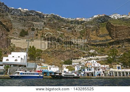 SANTORINI, GREECE - AUGUST 27, 2014: Santorini, GREECE.