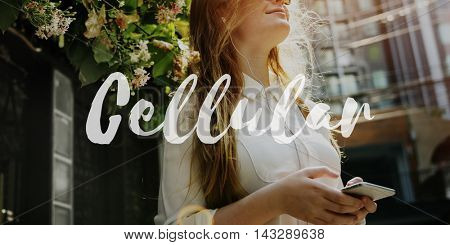 Cellular Networking Technology Telephone Talk Concept