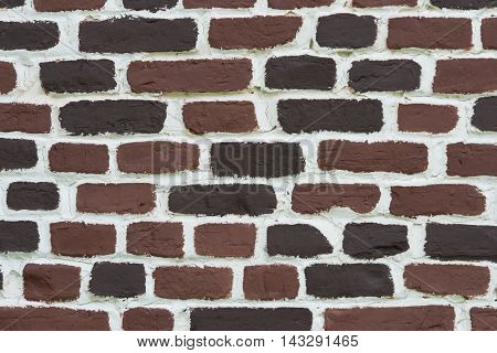 brick wall for background and lettering , brick
