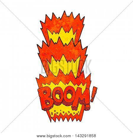 freehand textured cartoon boom symbol