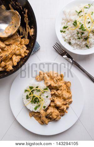 Stroganoff With Rice