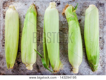 Fresh Raw Organic Sweet Corn Cobs
