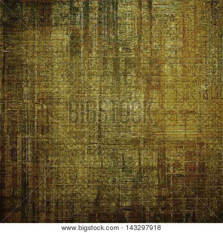 Background with grunge elements on vintage style old texture. With different color patterns: yellow (beige); brown; black; green; gray