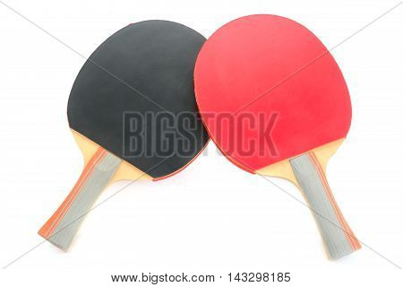 racquet to play ping-pong isolated on white background