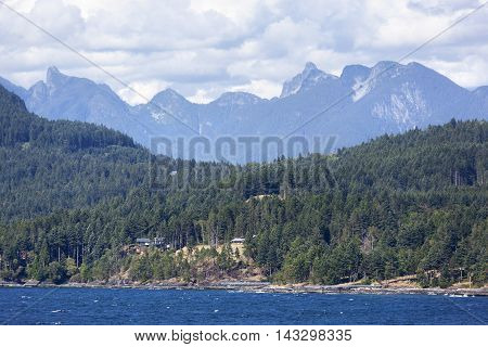 The view of greater area outside Vancouver (British Columbia Canada).