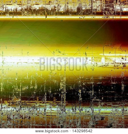 Vintage and retro design elements on faded grunge background. With different color patterns: yellow (beige); brown; black; green; red (orange); white