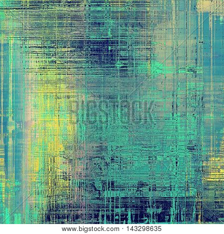 Old crumpled grunge background or ancient texture. With different color patterns: yellow (beige); green; blue; gray; cyan