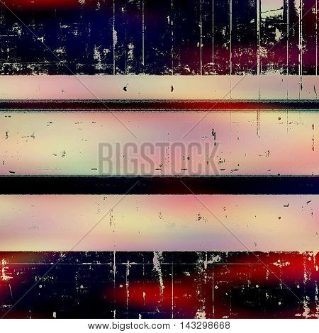 Grunge background or vintage texture in traditional retro style. With different color patterns: black; blue; red (orange); purple (violet); pink