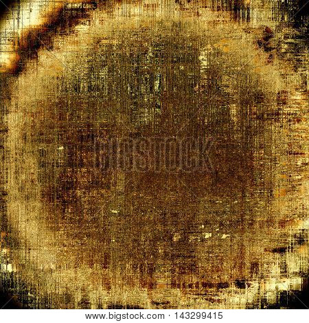 Spherical vintage background in scrap-booking style, faded grunge texture with different color patterns: yellow (beige); brown; black; gray