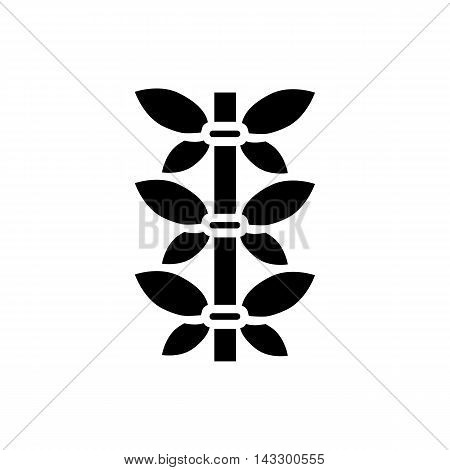 Bamboo stem icon in simple style on a white background