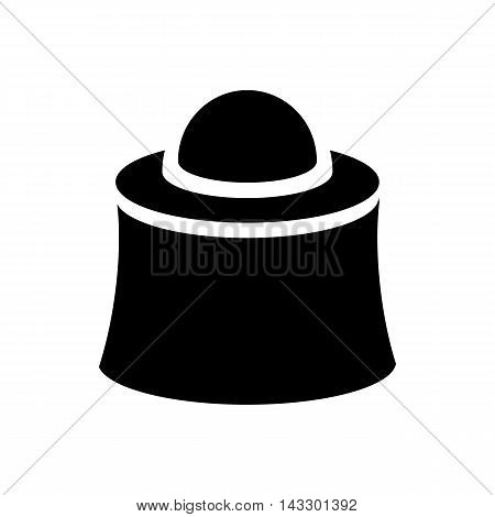 Apiarist mask icon in simple style on a white background