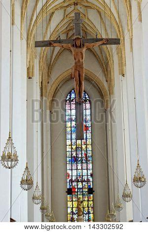 MUNICH GERMANY - AUGUST 3 2015: Interior of Frauenkirche Munich Germany.